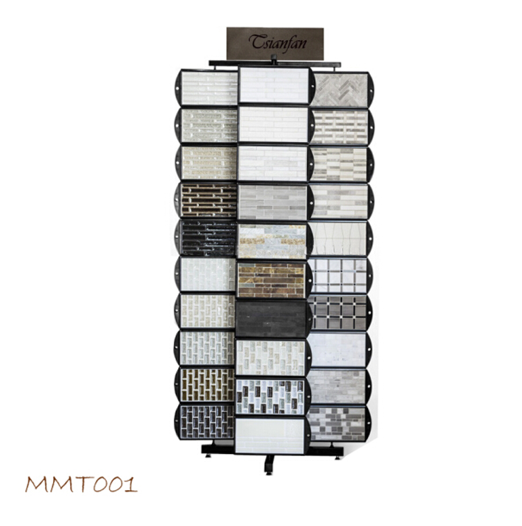 Mosaic Tiles display stand with display boards and swath cards
