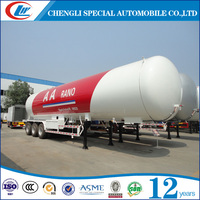 59.52CBM 3 Axle LPG Gas Transportation Tanker Trailer