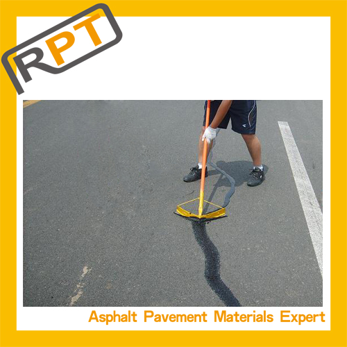 Hot rubber crack filler pavement material