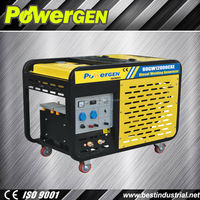 Hot Sale!!!POWER-GEN Air Cooled Open Type Dual use 10kw Diesel Welder Generator