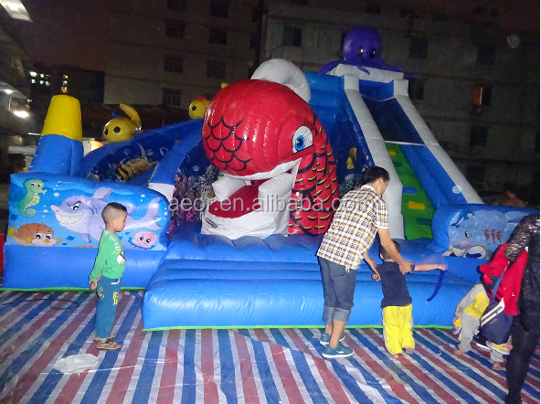 inflatable whale used playground equipment for sale/inflatable jumper kids