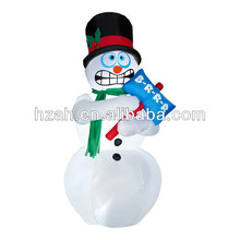 Outdoor Small Inflatable Snowman