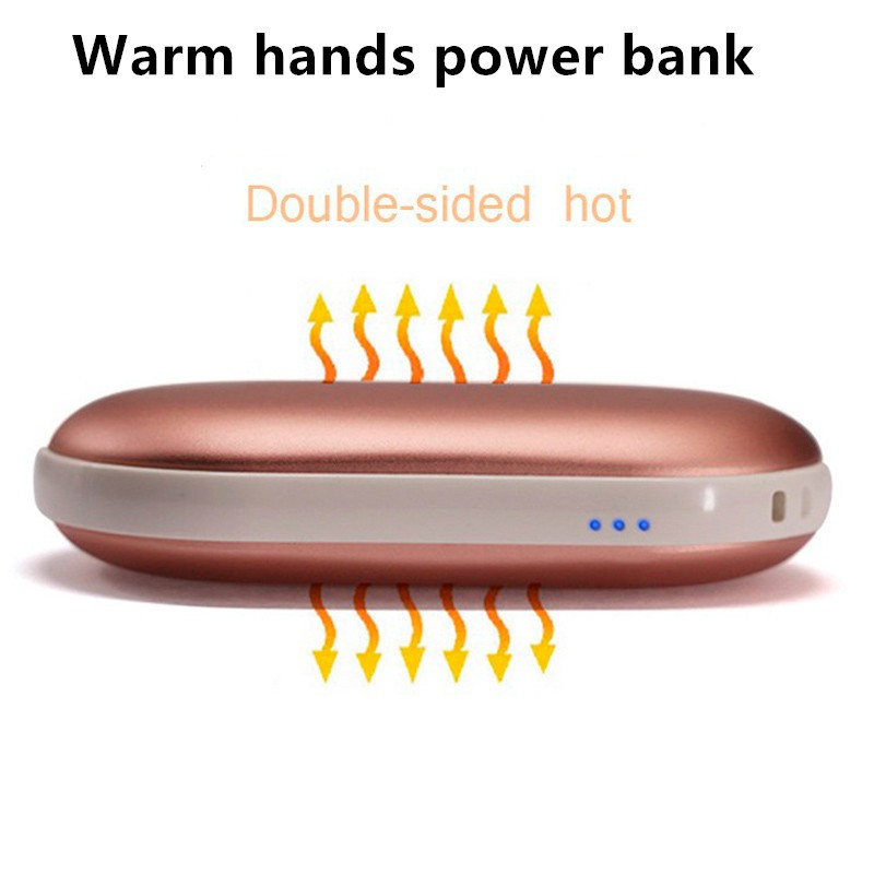 2016 Hot selling Rechargeable hand warmer/warm hands portable power bank 5000mAh charging treasure