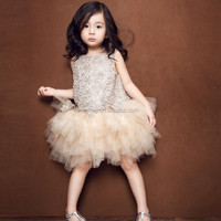 Beautiful Novelty Lace Short Baby Girls Party Dress For Summer