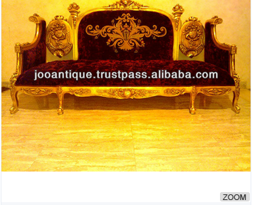 Gold Hand Carving Sofa Set style Classic