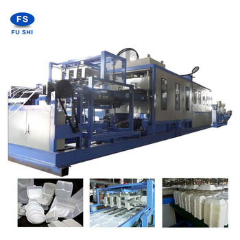 CE standard design ps thermocol foam food box plate making machine ,egg tray production line