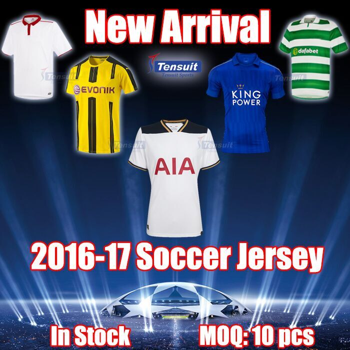 Customized thai quality football shirt maker soccer jersey for 2015 / 2016