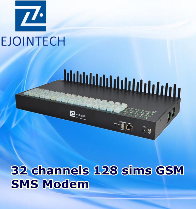 gsm sms sending device sms gateway 32 port 128 sim unlimited bulk sms sending and receiving