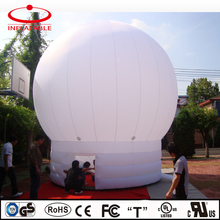 Outdoor inflatable party tent / inflatable white dome tent / inflatable illuminated tent