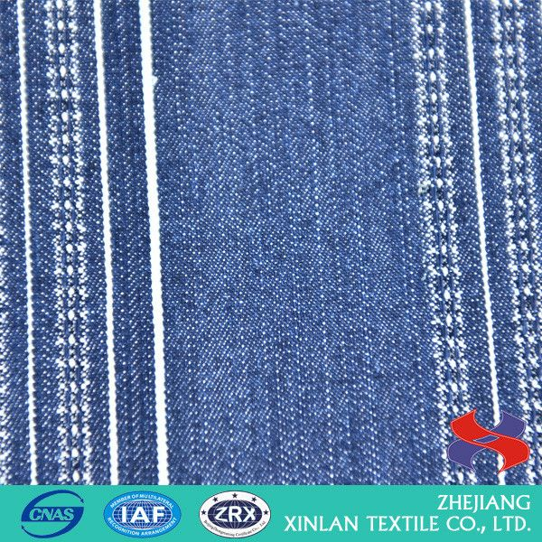 Latest Arrival unique design heart pattern jacquard denim fabric for sale