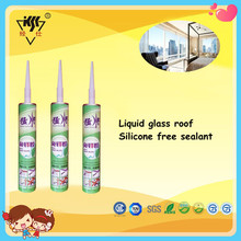 RTV liquid glass roof silicone free sealant