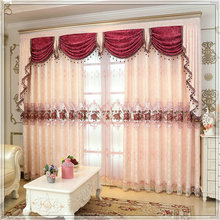 Factory Directly customized embroidered big window curtains