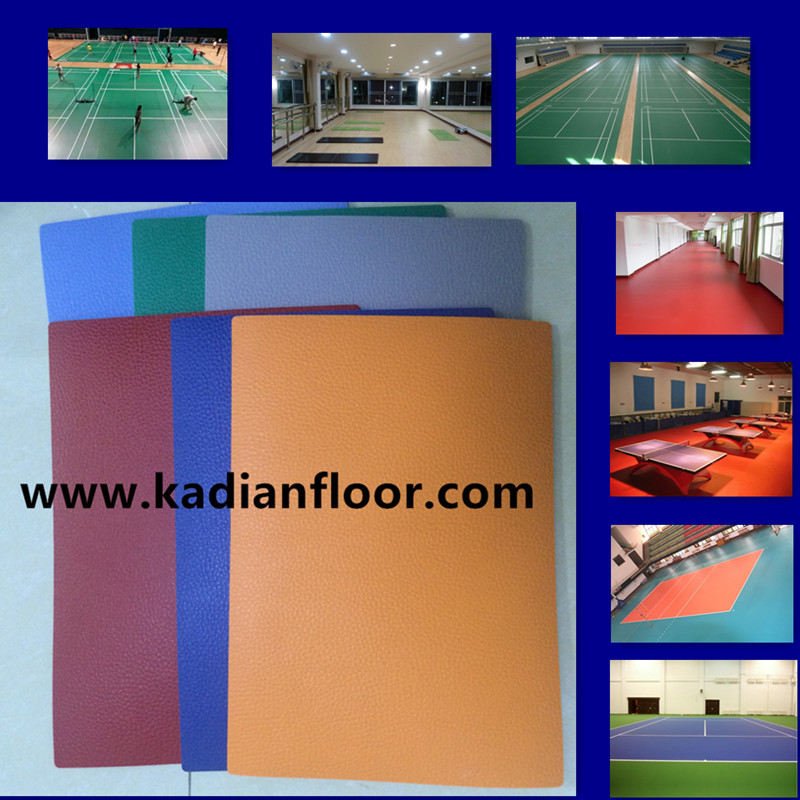 indoor pvc sports flooring for multifuctional playground litchi vein