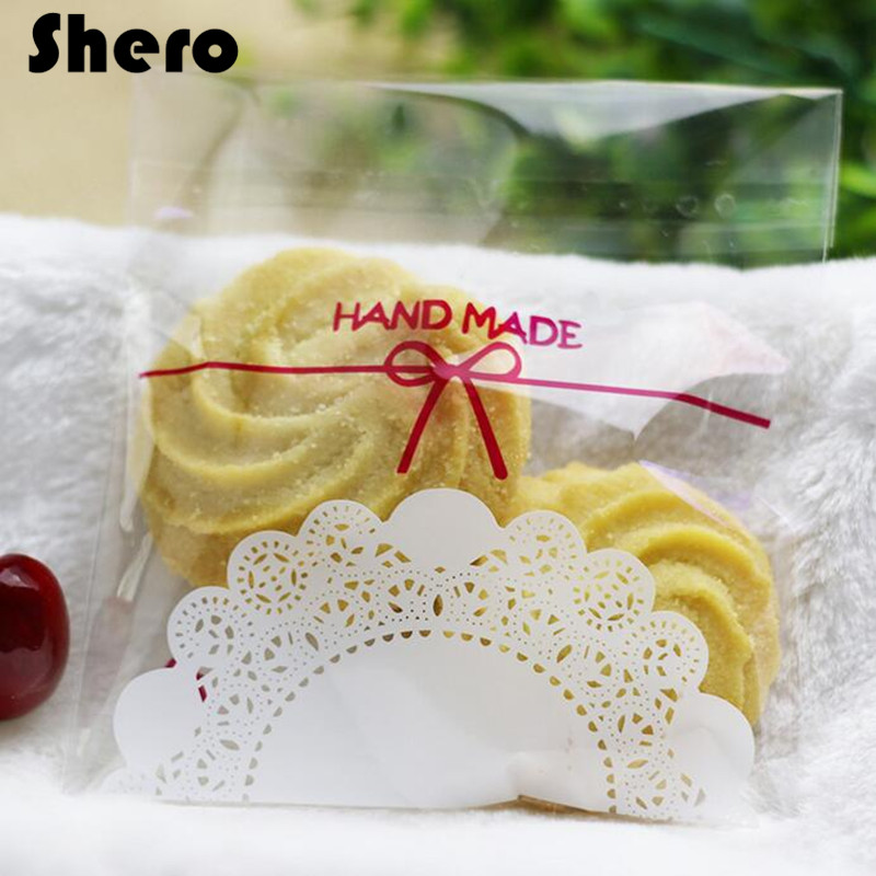 Transparent Plastic Packaging Bag For Food Sugar Cookies With Self Adhesive Seal