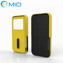 MIQ LED flashlight board solar cell power bank for mobile phones