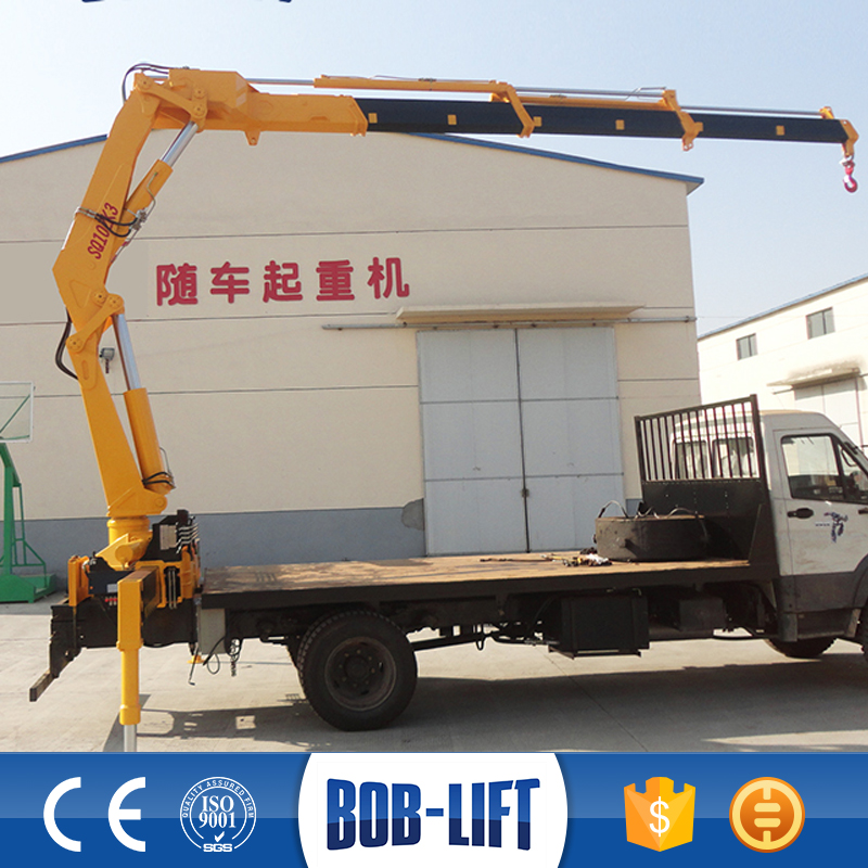 Knuckle Boom Hydraulic Wheel Mounted Crane for Sale