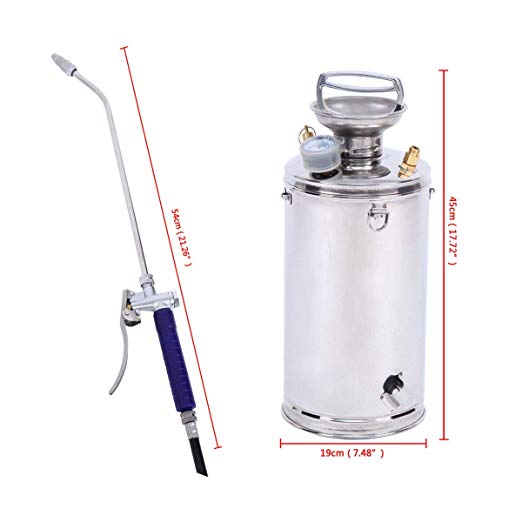 iLOT 16L Pressure Stainless Steel Sprayer for Chemical Pesticides <strong>Spray</strong>