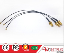 High qualityfactory price sma female BH to u.fl mini 1.13 cable assembly
