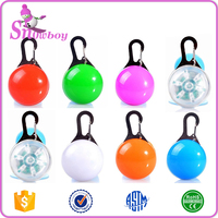 Colorful Dog Collar LED Lights Safety Dog Collar Light for Outdoor Safety - Water Resistant and Batteries Included