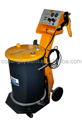 Intelligent electrostatic powder coating equipment with spray gun