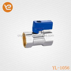 1/2Inch Female Thread Nickle plated Brass Mini Ball Valve for Water Oil and Gas