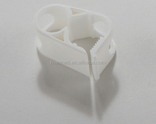 Disposable plastic medical catheter tubing clamp