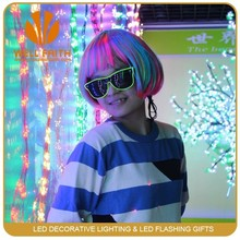 Led Flashing Wig for Rave Party,Fashion Straight Synthetic Hair