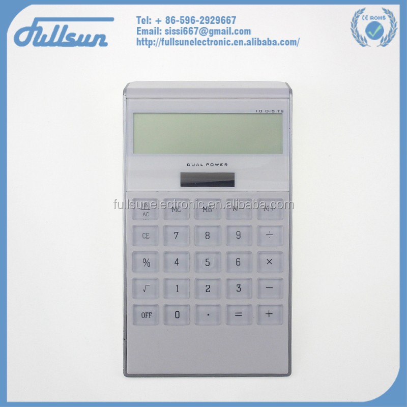Office desktop 7 shape 10 digit calculator solar cell FS-2037