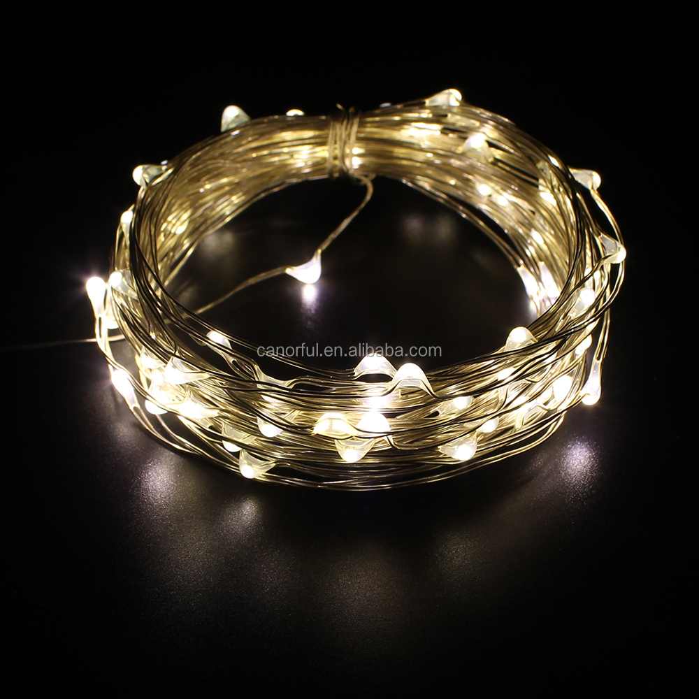 5m50 Mini Battery Operated Led Copper String Light For Christmas - Buy Mini Battery Operated Led ...