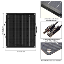semi Flexible Solar Panel 50W ETFE Solar Panel Monocrystalline Photovoltaic Solar Panel
