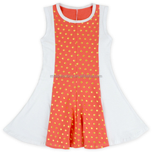 Children Cotton Frocks Designs Baby Girl party Dress Bronzing Dots Pattern Ruffle Dress For Toddlers Baby Girl Dress