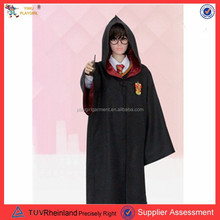 PGMC0664 Accept paypal hot movie harry potter costume black cape cosplay costume for men