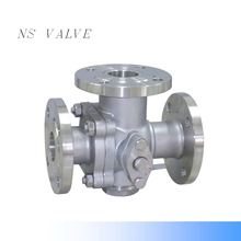WCB 3,three way/tee flanged ends floating ball valves