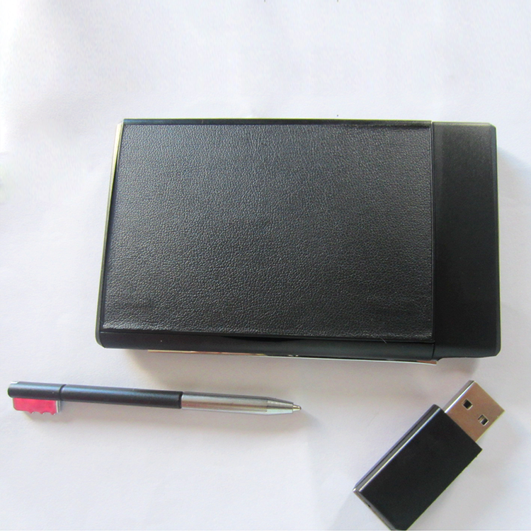 3 in 1 Custom business card holder USB flash driver and pen gift set promotion gift set