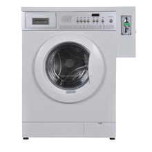 Commercial card/coin operated washing machine for laundromat