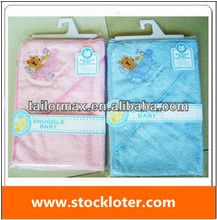 Lovly Embroider Hooded Baby Blankets Stock Inventory , 131208