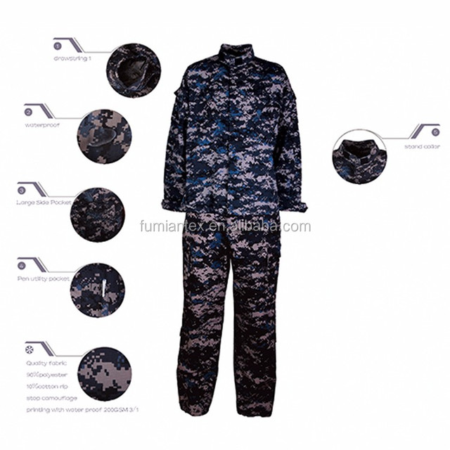 workwear-4037 Polyester/Cotton rip stop camouflage 200GSM 1/1 workwear