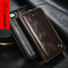 Caseme High Quality bran Design Luxury Leather Wallet For Apple iPhone 6 64gb Phone Case 5 Colors with card slots