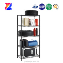 hot-selling metal chrome wire kitchen storage shelf rack with 5 layers