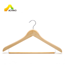 Wooden Basic Clothes Suit Hanger With Locking Bar