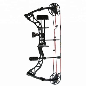 Let-off 80% China Archery Compound Bow For Hunting IBO Speed 320 Feet/s