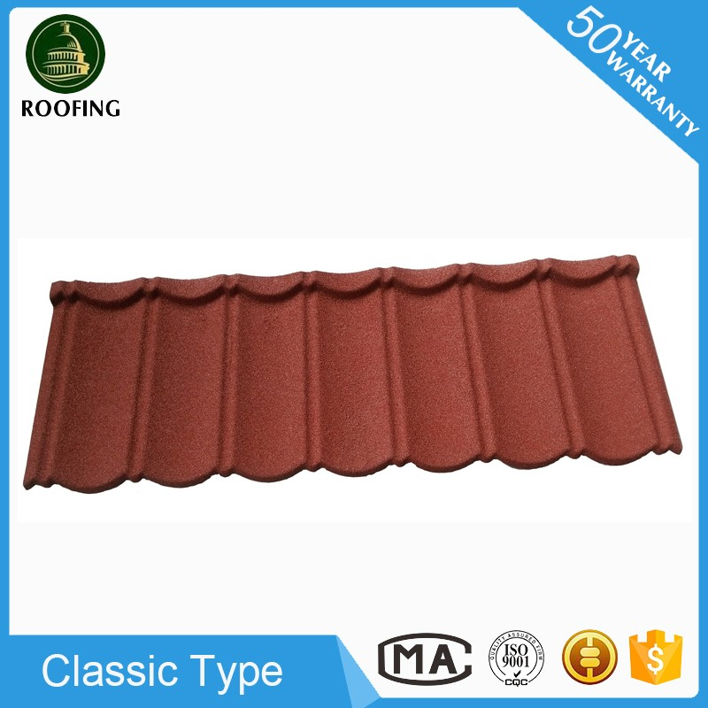 Colorful Classic metal roofing sheet,color stone coated metal roof tile made in China