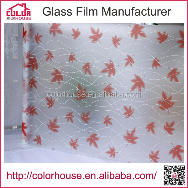 Hot sale with-glue self adhesive stained glass window film color film