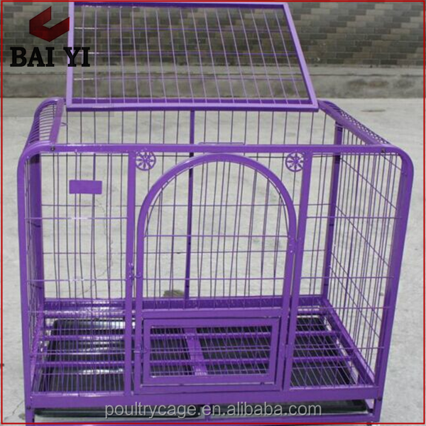 High Quality Fashion New Design Strong Stainless Steel Square Tube Dog Cage Trap