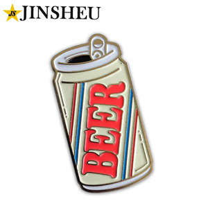 custom made beer event promotion metal enamel pin supplier