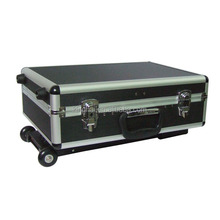 the fashion promotional trolley hard plastic tool case with wheels