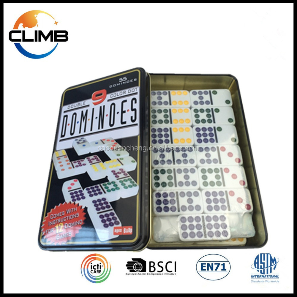 Gambling Products double 9 white plastic domino game set