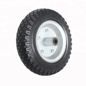 In Bulk Packing And PU Rubber Material Flat Free Trolley Seat Box Tire