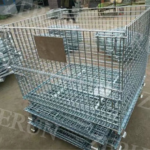 Customize warehouse equipment Wire Mesh Container/Storage cage/Mesh pallet wire cage