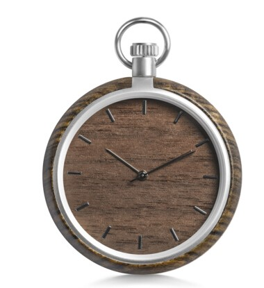 Factory Direct Sale unisex natural bestime wooden christmas pocket watch P001